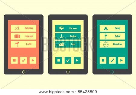 Smartphone With Special Travel Application Icons, Vector, Eps10