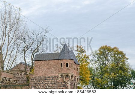 Medieval Fortress Zons In Germany.