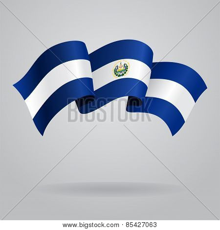 El Salvador waving Flag. Vector illustration