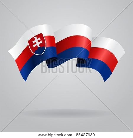 Slovak waving Flag. Vector illustration