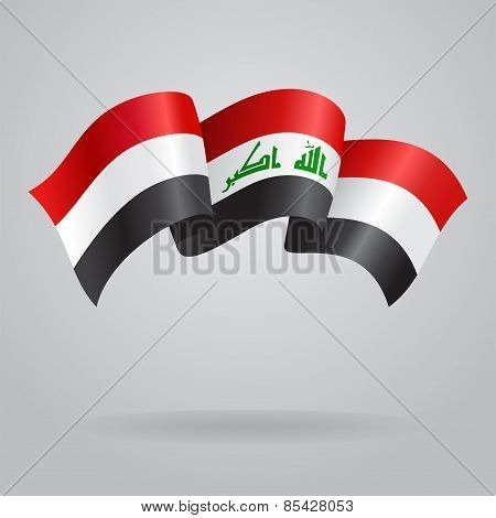 Iraqi waving Flag. Vector illustration