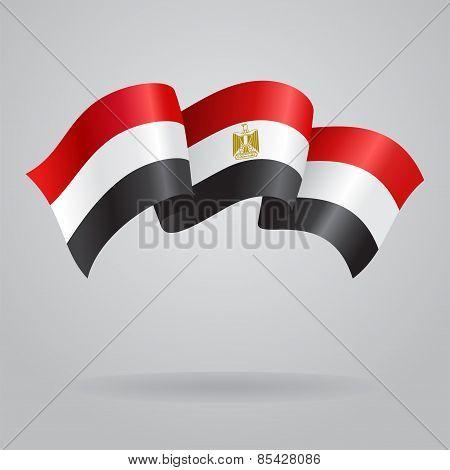 Egyptian waving Flag. Vector illustration