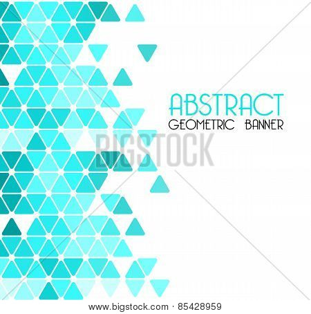 Abstract blue retro geometric background. Template design
