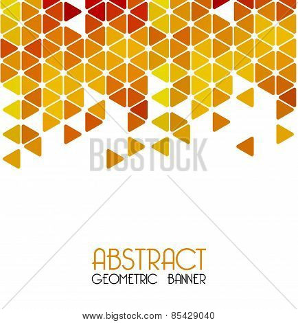 Abstract retro geometric background. Template design