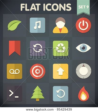 Flat Icons for Web and Mobile Applications Set 9