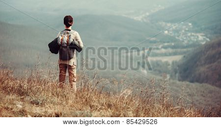 Traveler Woman On Nature