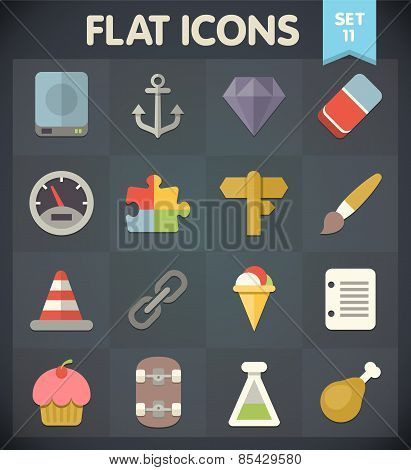 Flat Icons for Web and Mobile Applications Set 11
