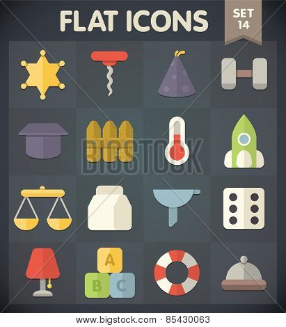 Flat Icons for Web and Mobile Applications Set 14