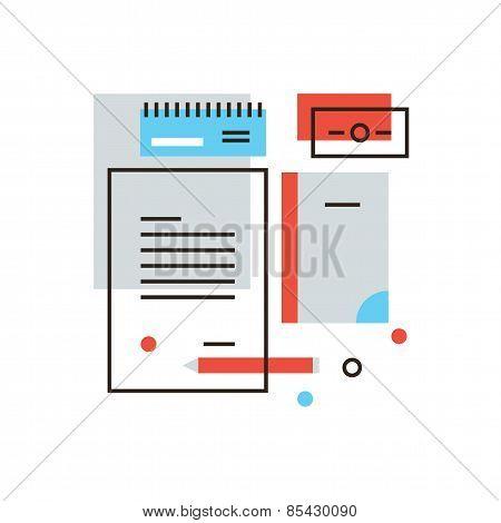 Branding Identity Flat Line Icon Concept