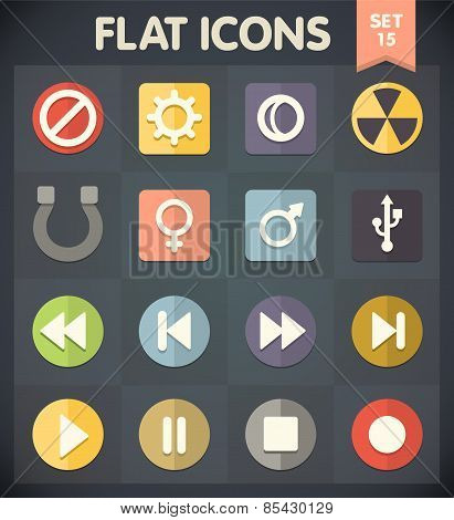 Flat Icons for Web and Mobile Applications Set 15