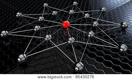 Balls Attached Network