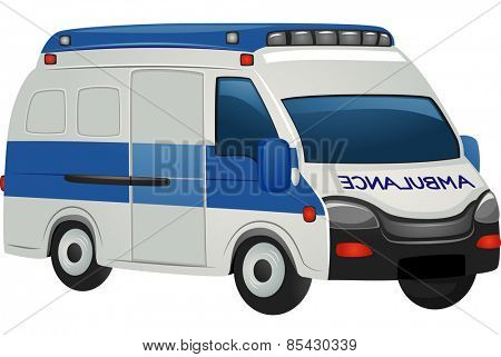 Illustration of an Ambulance on Standing by for Emergencies