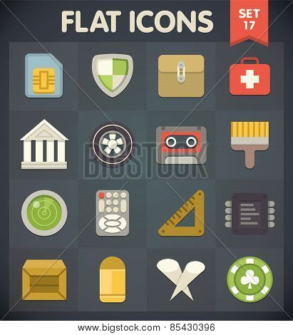 Flat Icons for Web and Mobile Applications Set 17