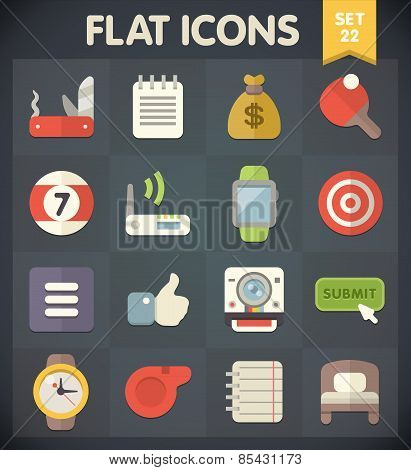 Flat Icons for Web and Mobile Applications Set 22
