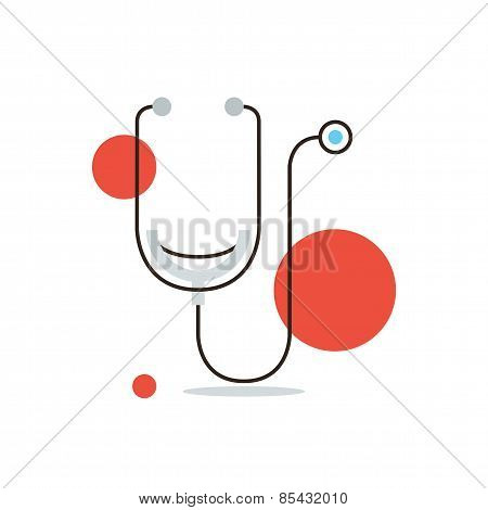 Medical Diagnostics Flat Line Icon Concept