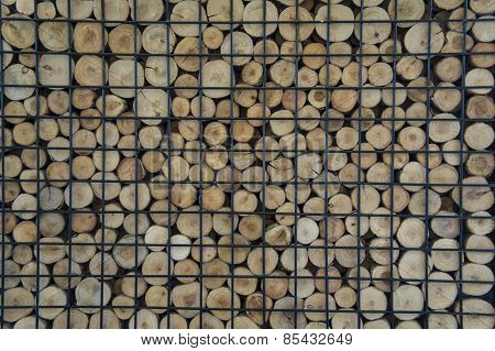 Wooden Firewood Floor Laminated Textured Concept