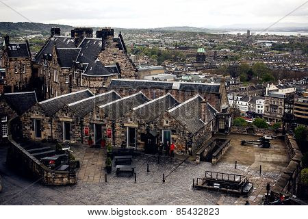 Edinburgh Castle viewed from Castlehill