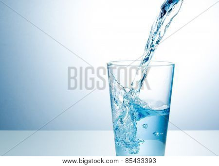 Glass of fresh water