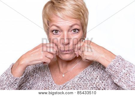 Woman Trying To Reverse The Signs Of Aging