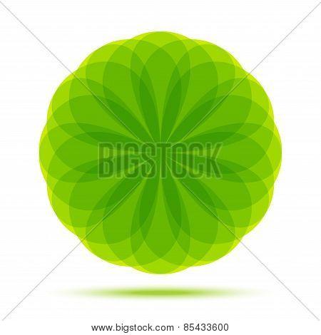 Organic Natural Circular Green Logo Emblem Design Element, cosmetics, soap, shampoo, perfume, medici