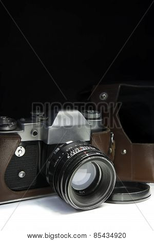 Old Retro Camera Closeup