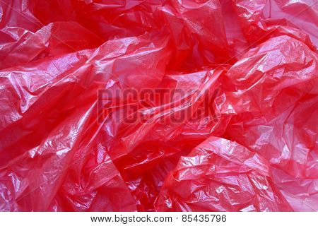 Crumpled polyethylene