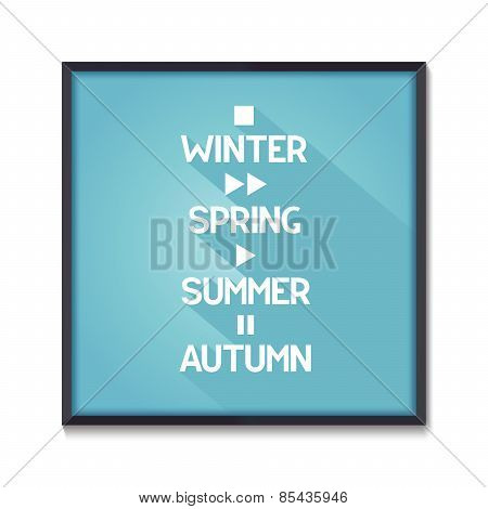 Seasons conceptual poster
