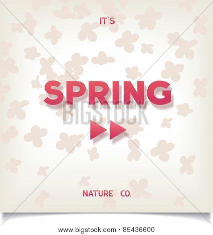 Spring conceptual poster