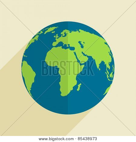 Happy Earth Day celebration with globe, can be used as poster, banner or flyer design.