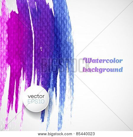 Watercolor splatters. Vector