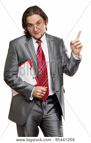 Attractive Businessman Isolated On White Background