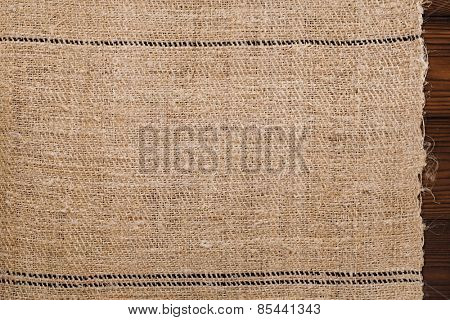 old grain sacking linen Completely hand made  handwoven and homespun backdrop