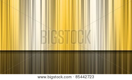 The Yelow  Blinds And Reflection Of Stage Backdrop, With The Illustraion.