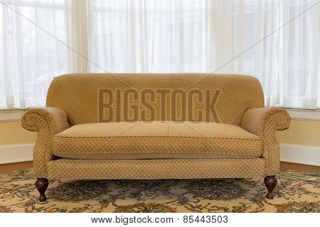 Elegant Brown Couch At The Living Area