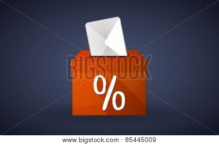 Orange Ballot Box With A Discount Sign