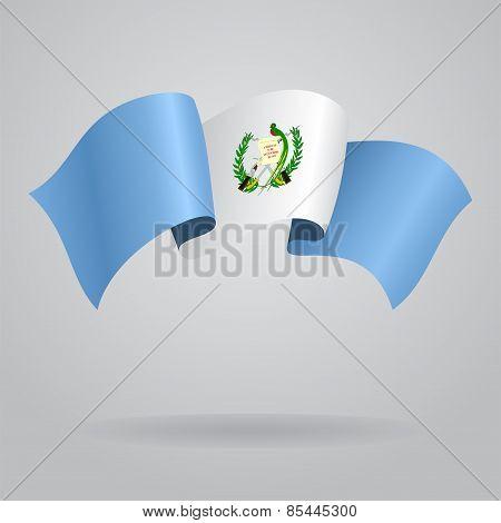 Guatemalan waving Flag. Vector illustration