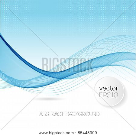 Abstract curved lines background. Template design