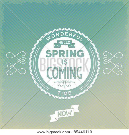 Spring label design