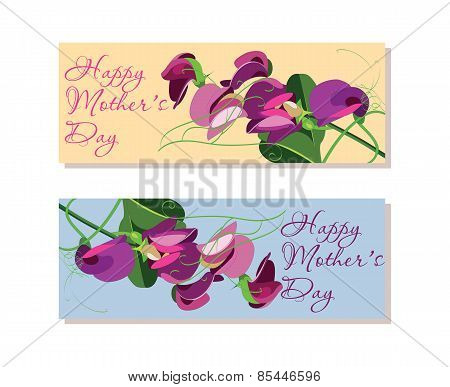 Set of horizontal banners  for Mothers Day