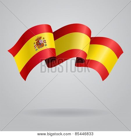 Spanish waving Flag. Vector illustration