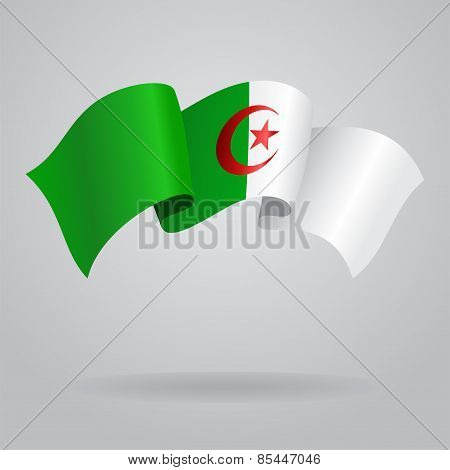 Algerian waving Flag. Vector illustration