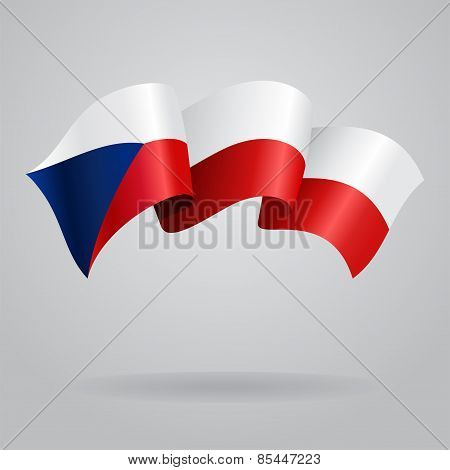 Czech waving Flag. Vector illustration