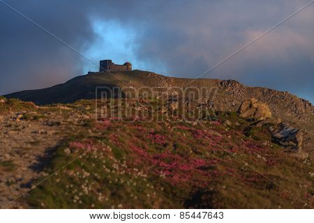 Carpathians mountain in spring time