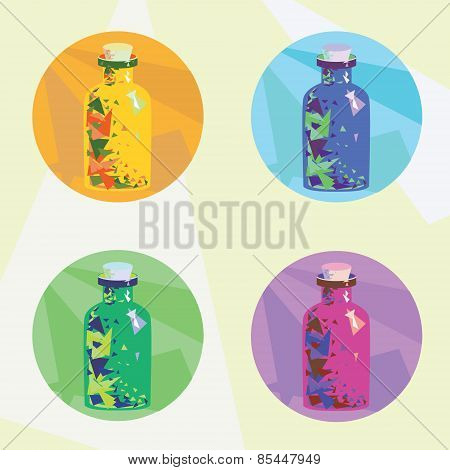 Colorful Icons Magic Potion
