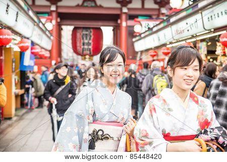 People At Sensoji Temple,tokyo