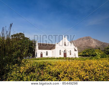 Dutch Reformed Church in Franschhoek in Winelands in Western Cape