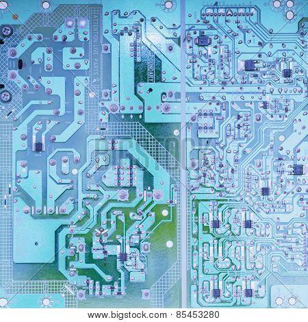 Electronic Circuit Board Scheme Background