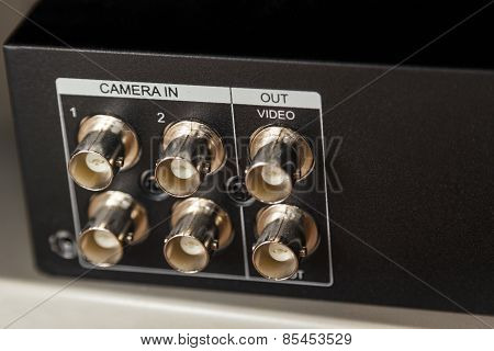 Dvr Coaxial Camera In Ports On Back Panel