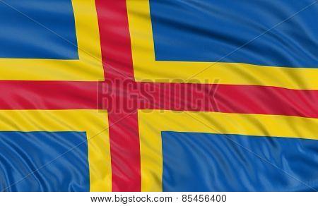 3D Aland Islands flag
