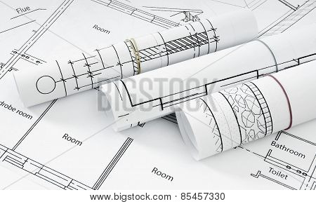Drawings for building house. Working drawings.